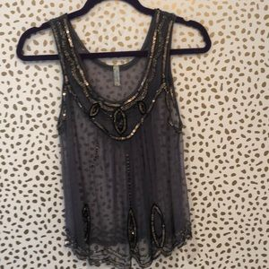 Sheer beaded camisole